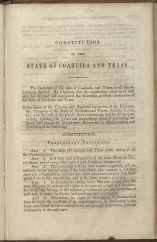 beginning page of Preamble and Preliminary Provisions