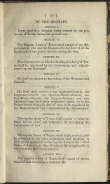 beginning page for Of the Military