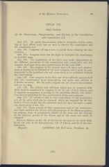 beginning page of Title VII, Sole Section