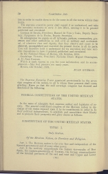 beginning page of Preamble and Title I