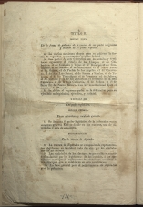 only page of Title II, Sole Section