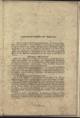 only page of Preamble and beginning page of General Provisions