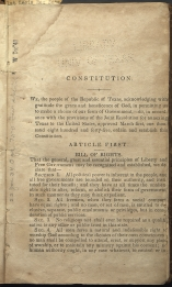 beginning page of Preamble-Article I