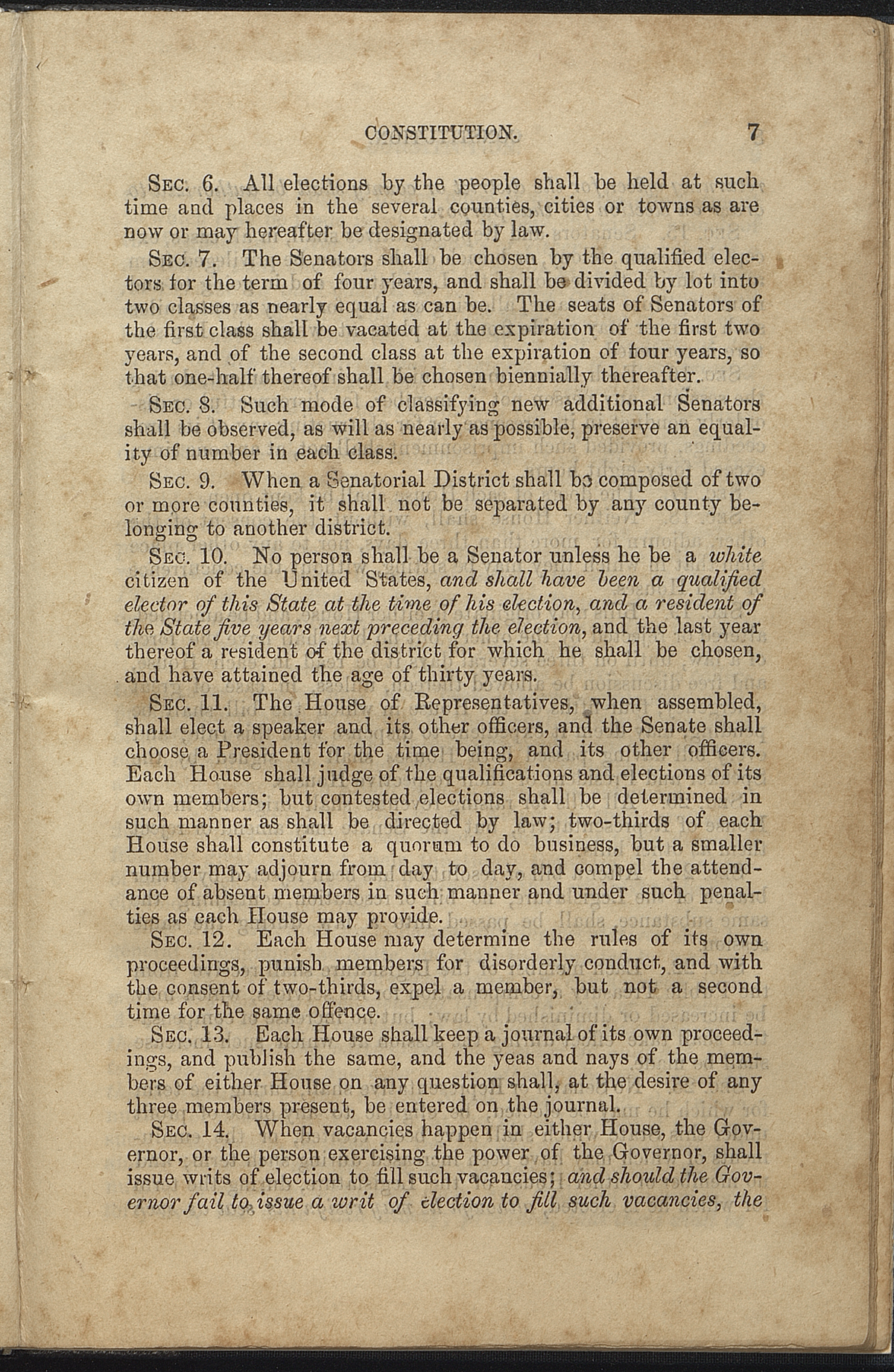Article III, Sections 6-14