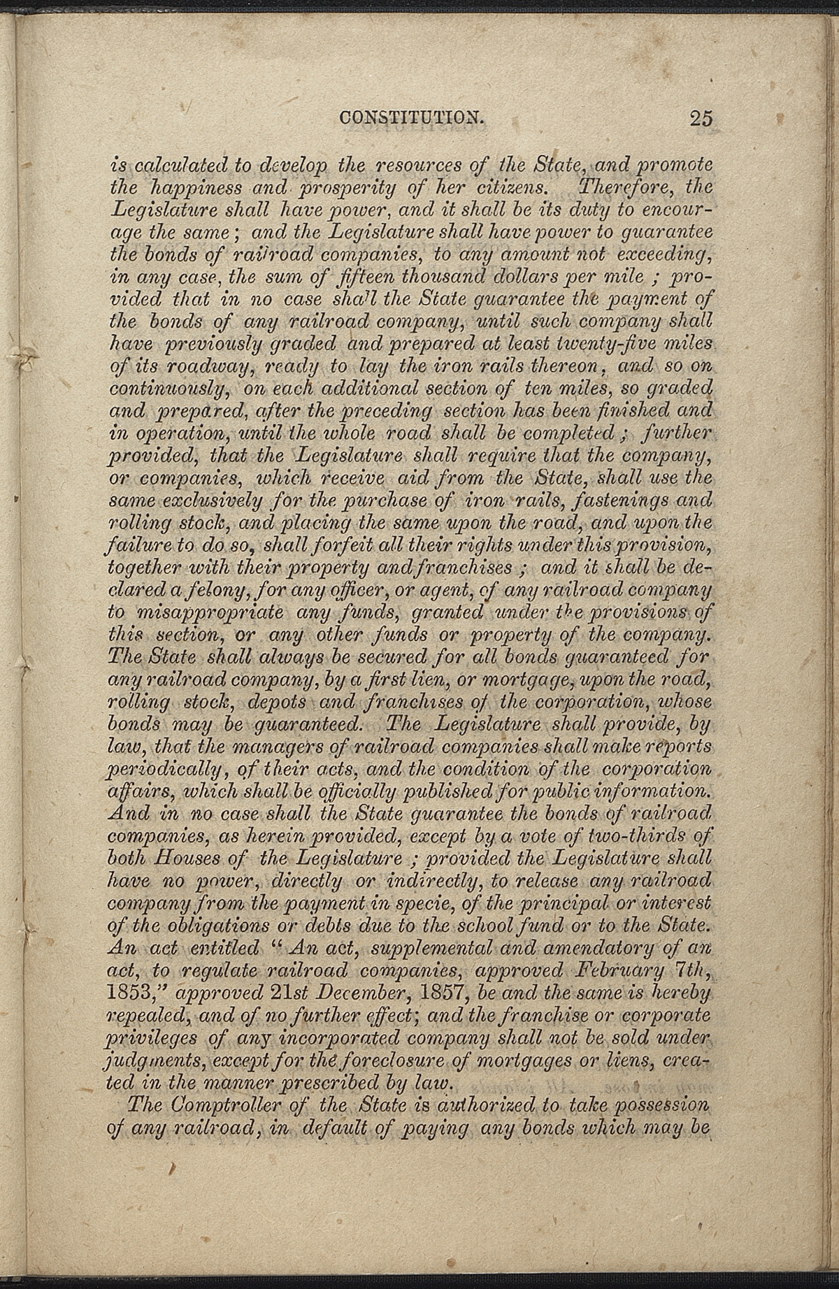 Article VII, Section 36