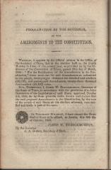 only page of Proclamation
