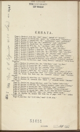 only page of Errata