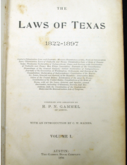 Laws of Texas title page